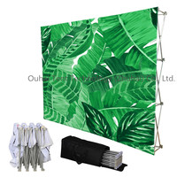 Best Selling Portable Advertisement Banner Trade Show Advertisement Event Fair Exhibition Fabric Pop Up Display Stand Billboard