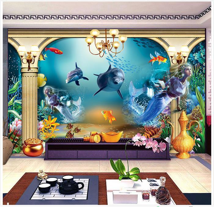 mermaid parete murales-acquista a poco prezzo mermaid parete ... - Carta Da Parati Personalizzata Prezzo