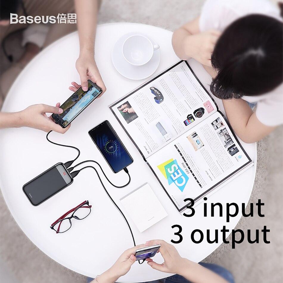 Baseus 20000mAh Power Bank 000 mAh LCD USB C PD Fast Charging Powerbank Portable External Battery Charger For Xiaomi Poverbank 4