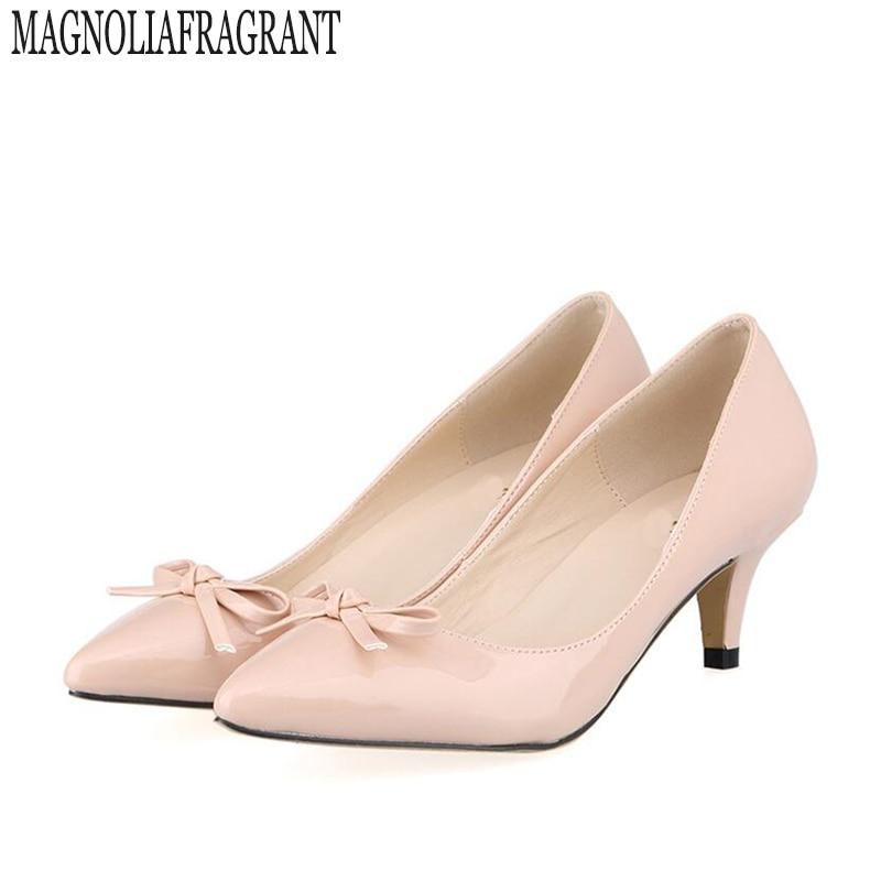 df072838e أحذية الزفاف حجم 35-42 2017 ماركة القوس امرأة عالية الكعب النساء مضخات خنجر  كعب رقيقة أحذية نسائية أشار تو عالية الكعب 253