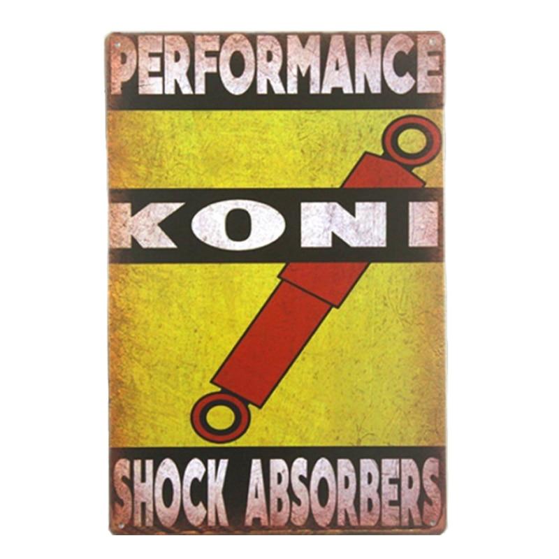 KONI Performance Vintage Metal Sign Posters Home Decoration ...