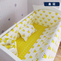 Комплект постельного белья для новорожденных с рисунком из мультфильма, 10 шт./компл., постельное белье для мальчиков и девочек, мягкое детск