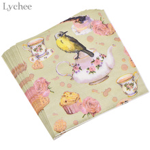 Buy floral paper napkins and get free shipping on aliexpress 20pcs paper napkins party tissue napkins mightylinksfo
