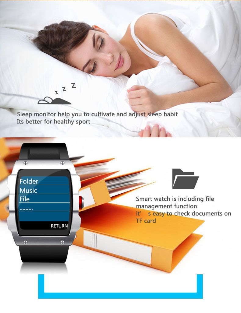 Human - LEMFO V18 GPS Smartwatch Support File management Sleep monitor Sedentary reminder Pedometer Smart Watch for IOS and Android