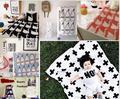 110*90 cm Manta de Bebé Negro Conejo Blanco Cisne Cruz de Punto niños suaves mantas de bebé recién nacido Cama Sofá throw manta de bebé swaddle