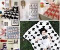 110*90cm Baby Blanket Black White Rabbit Swan Cross Knitted soft kids baby blankets newborn Bed Sofa throw blanket baby swaddle