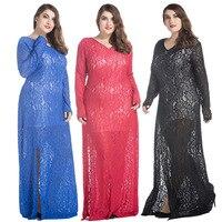Xl 9xl Women Lace Dress Long Vestidos Mujer Longo Elegant Plus Size Women Clothing 3x 4xl