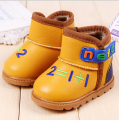 Winter new baby shoes girls boys shoes fashion digital snow boots boys cute letter warm boots girls new style baby boots