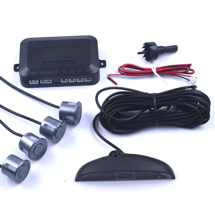 1 satz Auto Parkplatz Sensor Kit Auto Auto Led-anzeige 4 Sensoren Für Alle Autos Umge Assistance Backup Radar-Monitor parkplatz System