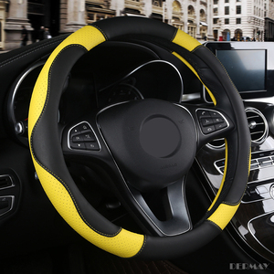 Image 4 - 1 PC עור מפוצל רכב הגה כיסוי רך אנטי להחליק רכב סטיילינג ספורט אוטומטי היגוי גלגל מכסה טוב לנשימה אבזרים