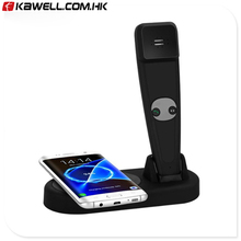 Qi Wireless Charger Pad 2 in1 Qi Fast Wireless Charging with Bluetooth Headset For Smart Phone