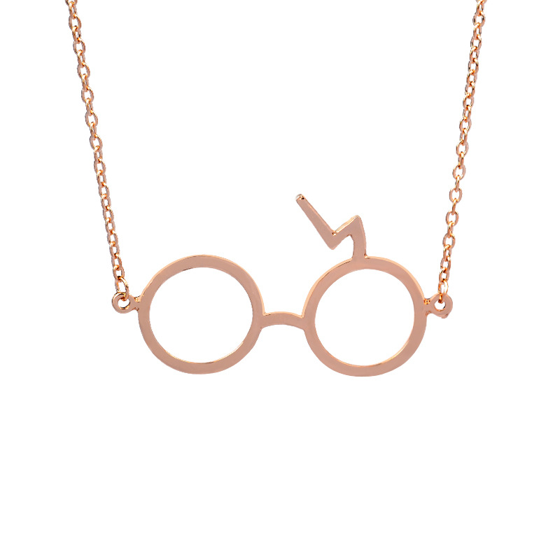 Vintage Movie Harry Potter lightning scar Glasses Necklaces for women Z scar Magic Pendants Movie Gifts Wholesale