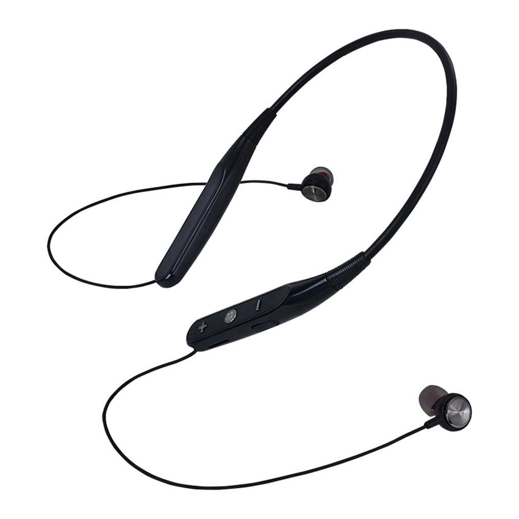 Wireless Bluetooth Earphone Neck Hanging Hands-free Sports Headphones Noise Canceling Stereo Magnetic Headset with Mic