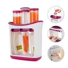 Baby Food Maker Squeeze Station Organization Storage Containers Set Fruit Puree Packing Machine