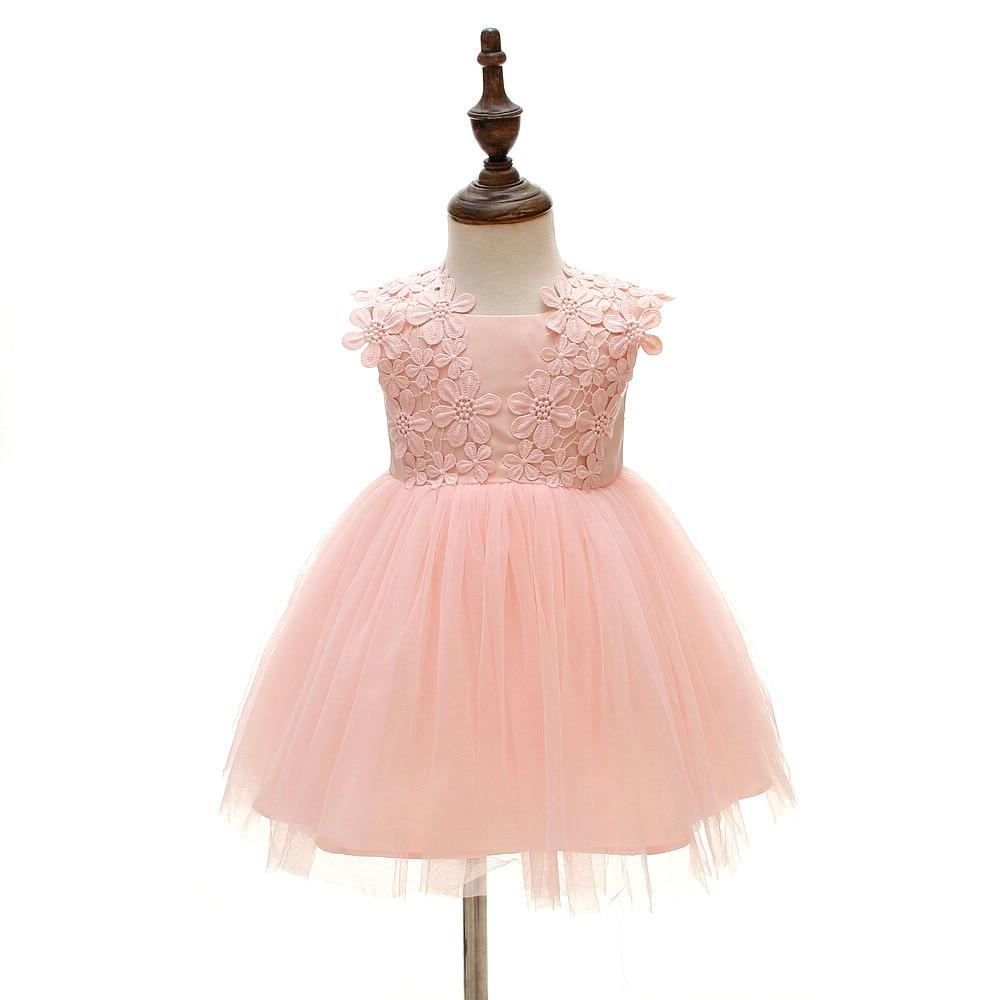 Neue 1 Geburtstag Kleid Rosa Farbe Ballkleid Partykleider Baby ...