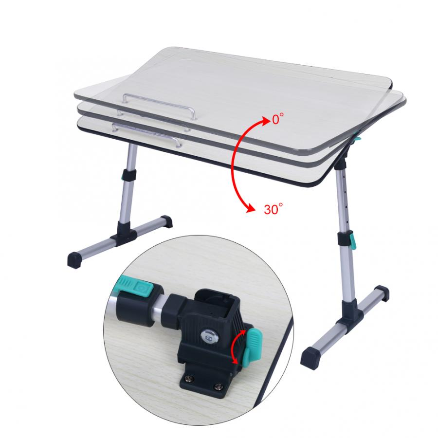 Image 4 - Adjustable Laptop Desk for Home Laptop Stand Portable Standing Desk Laptop Computer Table Foldable Sofa Breakfast Bed Tray Table-in Laptop Desks from Furniture