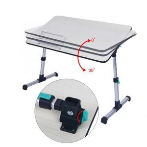 Image 4 - Escritorio ajustable para ordenador portátil para el hogar soporte portátil de pie escritorio portátil mesa de ordenador portátil sofá plegable mesa tipo bandeja para cama
