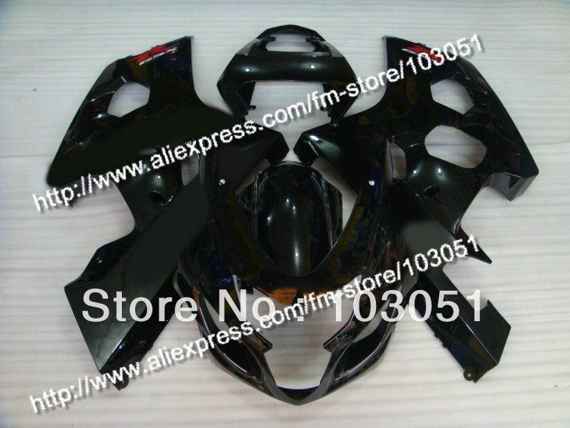 bodywork for SUZUKI 2004 GSXR 600 fairing K4 2005 GSXR 750 fairings 04 05 all glossy black DB88 freeshipping smoke double bubble windscreen windshield for 2004 2005 suzuki gsxr 600 750 k4