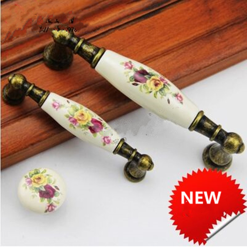 96mm 128mm vintage rusic rural ceramic furniture handles bronze dresser kitchen cabinet door handle antique brass drawer knob 5 antique distress drawer knob bronze kitchen cabinet handle knob antique brass dresser cupboard furniture door knobs handles 30mm