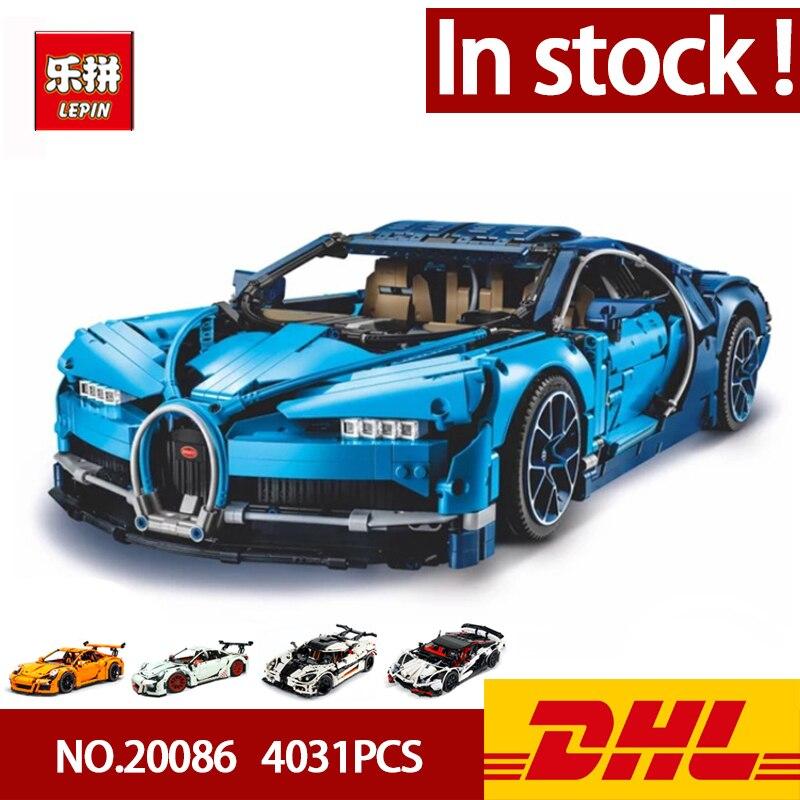 Lepin 20086 Série Technique Supercar Bugatti blocs de construction 4031 pièces Briques jouets éducatifs Compatible 42083 Garçon Cadeaux Modèle