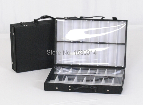 8def7ebf64c 32 pieces eyeglass double tray sample sales reps bag display storage box  suitcase eyewear brief case sample carring bag-in Accessories from Apparel  ...