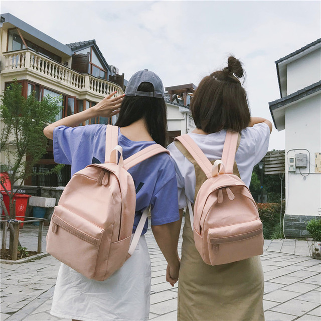 2019 Women Canvas Backpacks Ladies Shoulder School Bag Backpack Rucksack for Girls Travel Fashion Bag Bolsas Mochilas Sac A Dos 2