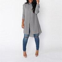 S XXL Pure Chiffon Blouse 2017 Plus Size Women S Long Sleeve Fall Brand Shirt Casual