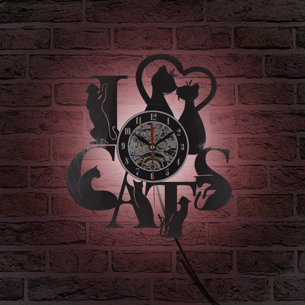2018 Жаңа келу Винилді жазу уақыты Cat - Үйдің декоры - фото 5