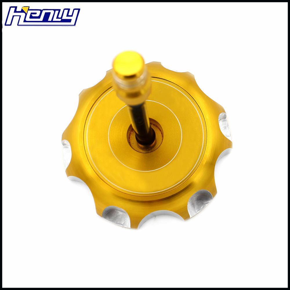 CNC FUEL GAS CAP FOR SUZUKI DRZ 125 400 400E LTR 450 RMZ 250 2005-2011 GOLD