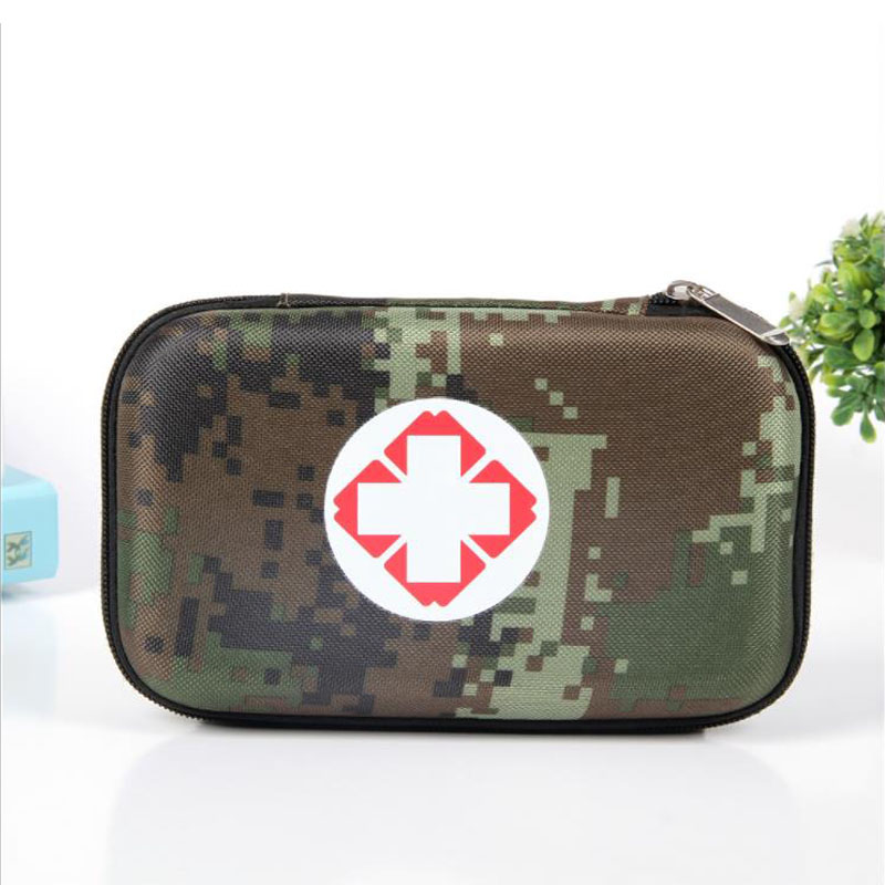 Camouflage First Aid Kit Waterproof EVA Bag Person Portable Outdoor Travel Drug Pack Security Emergency Kits Medical Treatment in Emergency Kits from Security Protection