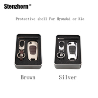 Stenzhorn 3BT Zinc Alloy Key Case Cover For Kia Rio K2 K5 Soul Ceed Sportage Picanto