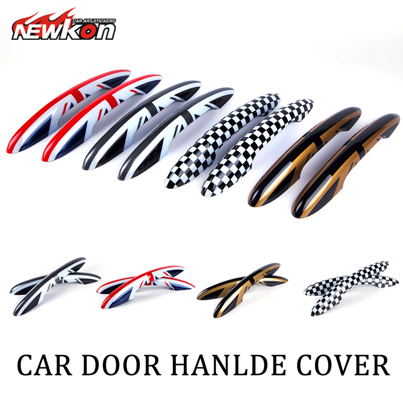 Union Jack UK Design Door Handle Cover for Mini Cooper R56 F56 new 2pcs for mini cooper accessories f54 f55 f56 carstyling door knob door handle shell covers decoration sticker union jack