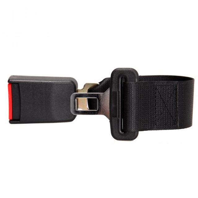 Car Seat Belt Extender Safety Seatbelt 21-22mm Long-lasting Black Seatbelt Extender Car Auto D Type With Safety Buckle