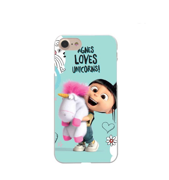 best loved 0b50c 51601 US $1.21 39% OFF|Phone Cases Agnes and Unicorn Hard For Apple iphone X XR  XS MAX Despicable Me Cover For iPhone 5 5S SE 6 6S Plus 7 7Plus 8 8Plus-in  ...