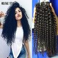 4 Pacotes de vison cabelo peruano kinky curly rainha produtos para o cabelo Crespo encaracolado virgem grau 8a não transformados extensão do cabelo cutícula completo
