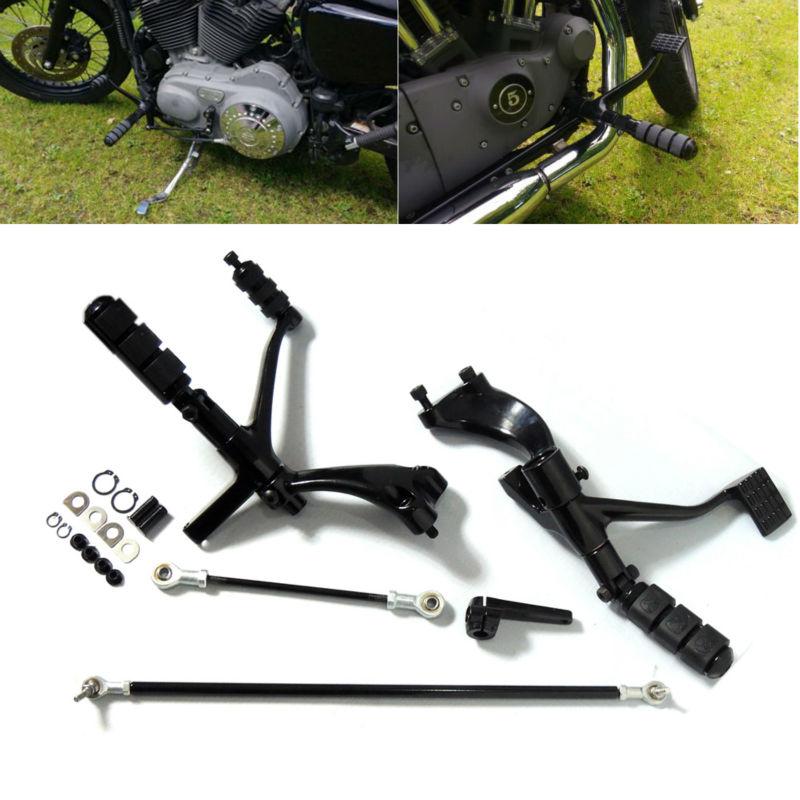 Prix pour Commandes avancées Kit Complet avec Chevilles Leviers Liens Pour Sportster 1200 883 Motorcycel Pièces Noir