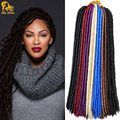 18'' Havana Mambo Faux Locs Crochet Hair 24Roots Faux Locks Crochet Braid hair Extensions 120g Goddess Faux Locs Crochet Hair