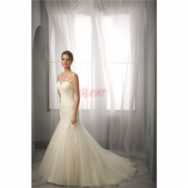 Romantic Fashionable Sexy Long A-line Vestido De Novia Renda Casamento Appliques 2018 Bridal Gown Mother Of The Bride Dresses