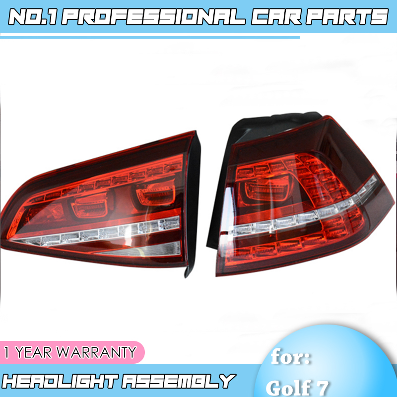 Car Styling made in taiwan for VW Golf 7 Taillights 2013 2017 Golf7 MK7 LED Tail Lamp Rear Lamp DRL+Brake+Park+Signal led light