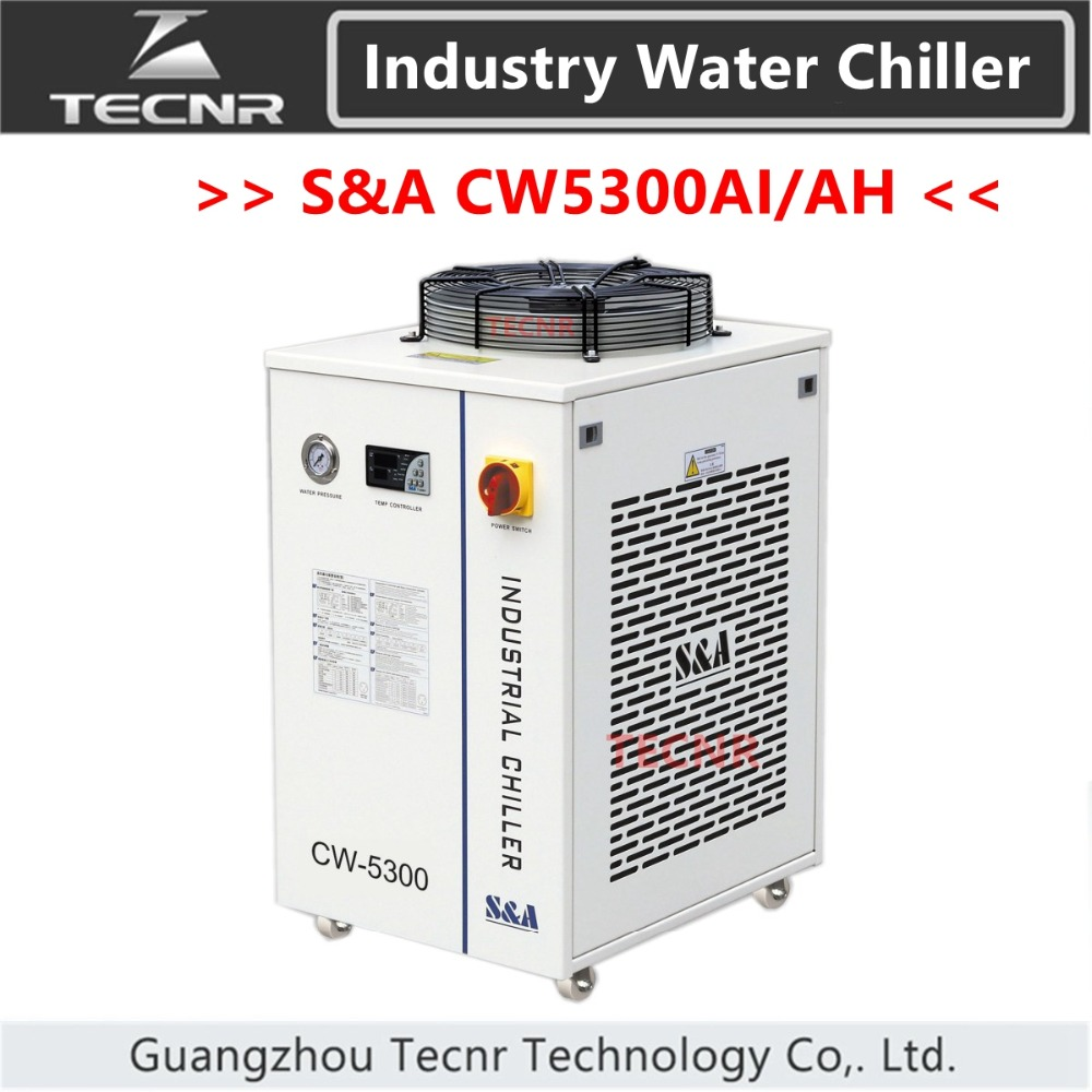 S&A CW5300AI CW5300AH CW5300 Industrial Water Cool Chiller For Laser Machine Cooling 150W To 200W Co2 Laser Tube 1800W Capacity