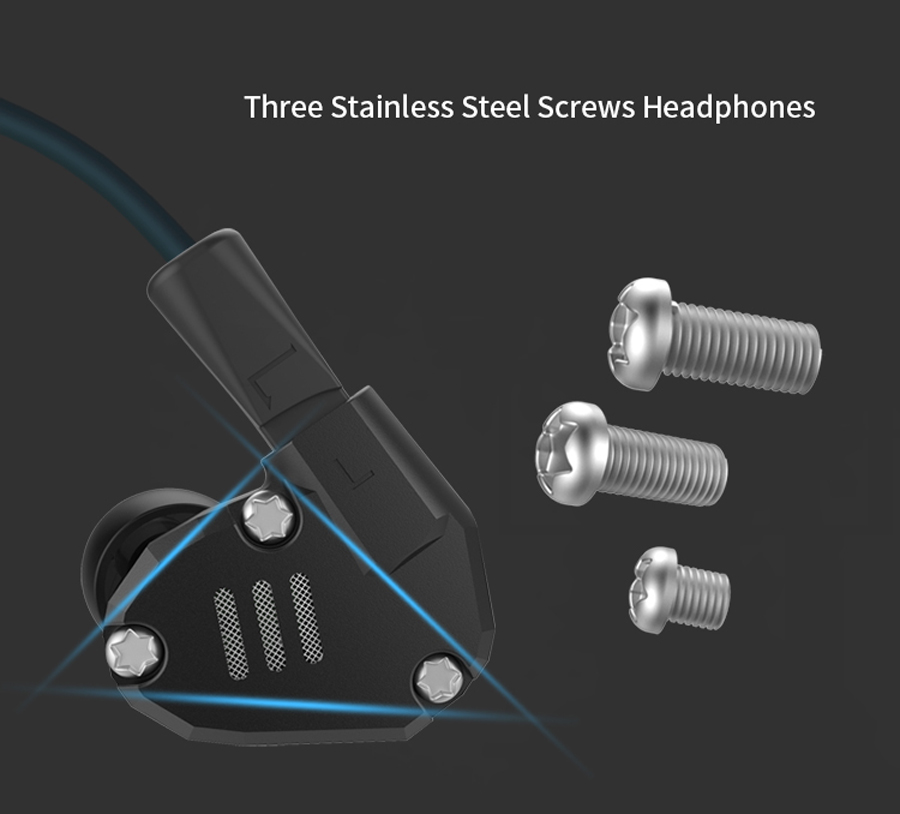 New KZ ZS6 2DD+2BA Unit Hybrid In-Ear Earphone Subwoofer Stereo Sport Headset Noise Cancelling HIFI Detachable Earbuds with mic