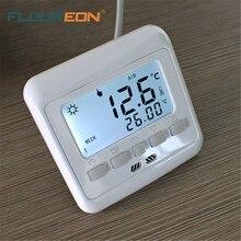 Floureon 16A теплый пол термостат Белый ЖК цифровой Еженедельный Программируемый анти помех регулятор температуры
