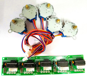 5pcs New Brand ULN2003 28BYJ-48 5V Reduction Step Motor Gear Stepper 4 Phase for arduino +5pcs Board