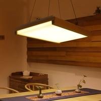 Rectangular square wood LED ceiling lamp creative high level hotel living room bedroom office lighting LED ceiling lamp m
