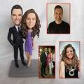 قمة الموضة تمثال لزوجين الهدايا الإبداعية عيد الحب لإرسال صديقة هدية الزفاف تمثال النحت الحاضر اليدوية