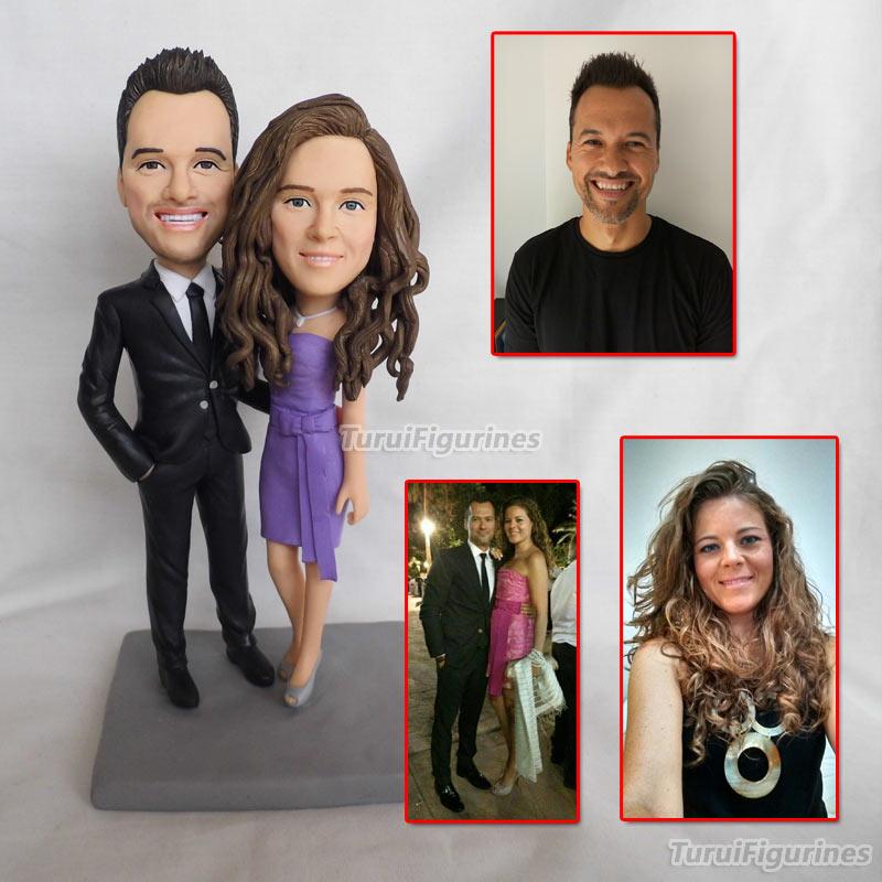 Top Fashion Couple Figurine Creative Gifts Valentine's Day To Send Girlfriend A Gift Wedding Figurine Sculpture Present Handmade