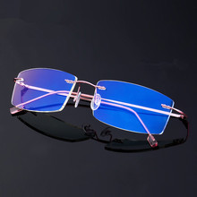 Lightweight Rimless Glasses Frame Memory Titanium Eyeglasses Women Men Square Myopia Optical Glasses Frames Oculos De Grau ee women titanium eyewear frames round frame glasses titanium frame optical glasses oculos de grau clear eyeglasses