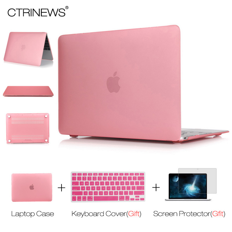 CTRINEWS Matte Case for Macbook Air Pro 13.3 Retina 12 13 15 Hard Frosted Laptop Case Cover Sleeve for Apple Macbook Air 13 Case soyan pu laptop sleeve envelope bag for macbook air pro retina 11 12 13 15