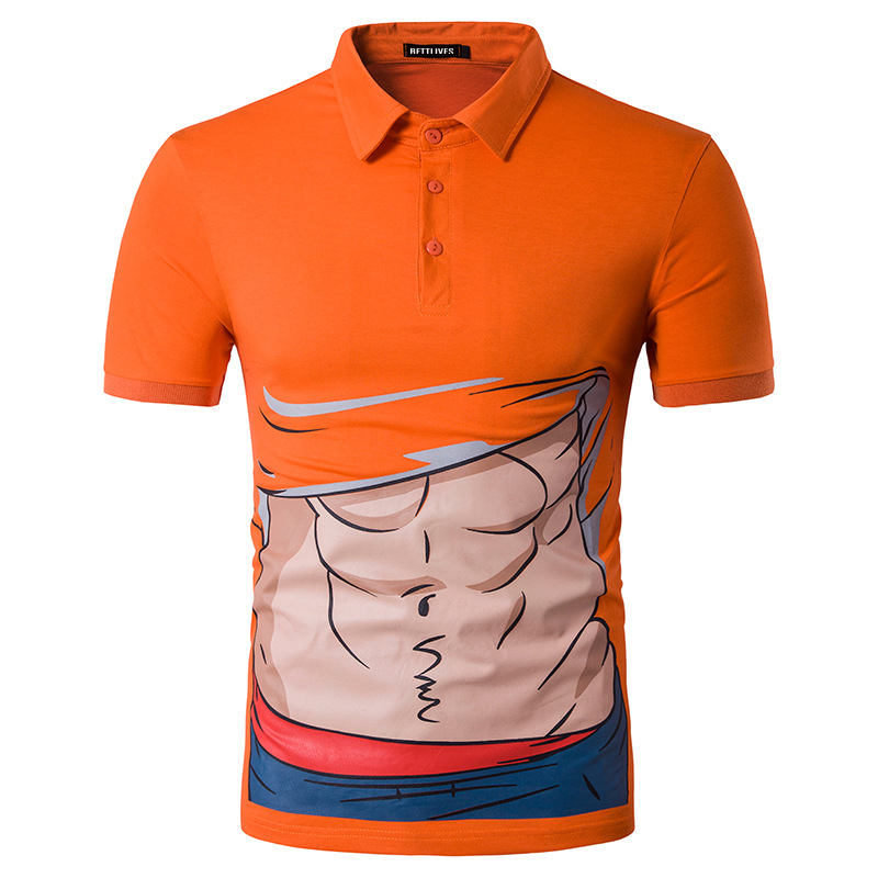 2da47a66 Summer Polo Shirts Muscle Cartoon Printing Funny Polo Shirt Men Short  Sleeve Casual Men Shirts Slim Fit Casual Polo Homme B3971-in Polo from  Men's Clothing ...