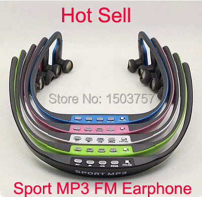 E508 Sport Stereo Earphones with FM Radio and MP3 Player support TF card running wireless headset earphones